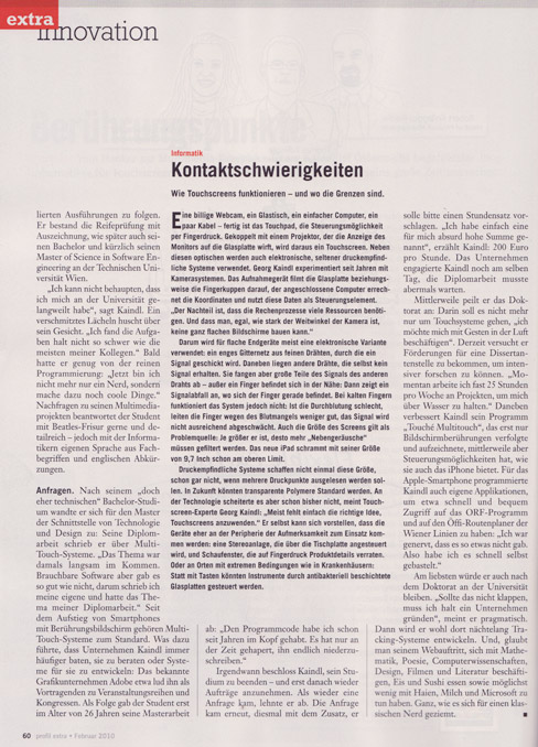 """Georg Kaindl in Profil"", page 2"